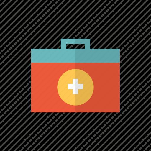 aid, bag, box, first, first aid box, kit, medical kit icon