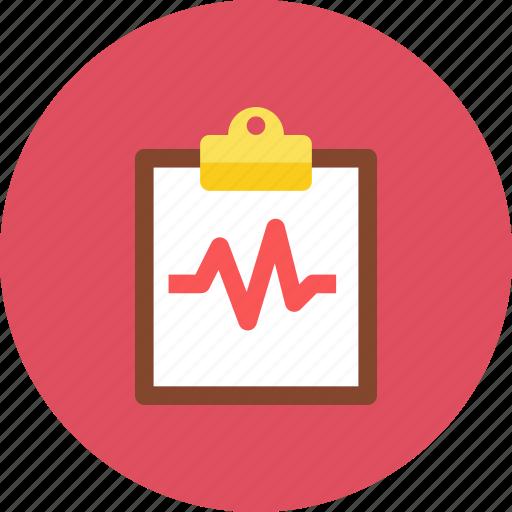clipboard, pulse icon