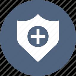 medical, shield icon