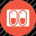 capsules, drug, medicine, pill icon