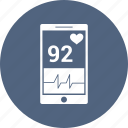 ecg, health, healthcare, medical, mobile, phone icon