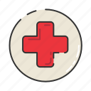 cross, health, health service, healthcare, hospital, medicine icon