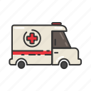 ambulance, emergency, health, health service, healthcare, hospital icon