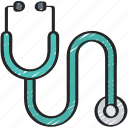 doctor, equipment, health, medical, stethescope icon