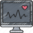 beat, computer, health, heart, heartrate, medical, monitor