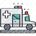 ambulance, health, hospital, medical, vehicle