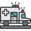 ambulance, health, hospital, medical, vehicle