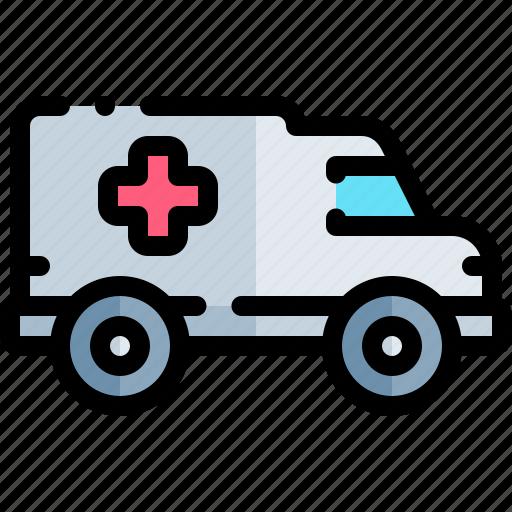 ambulance, emergency, health, healthy, hospital icon