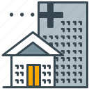 building, care, emergency, health, hospital icon