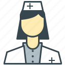 care, employee, health, medical, nurse icon