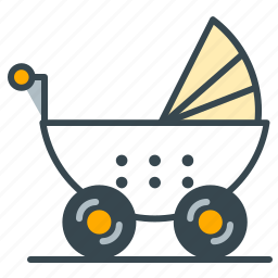 baby, care, health, stroller, walk icon