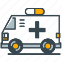 ambulance, care, emergency, health, vehicle icon