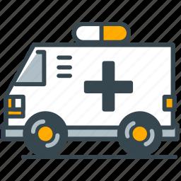 ambulance, care, emergency, health, vehicle icon