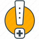 care, emergency, health, hospital, medical, warning icon