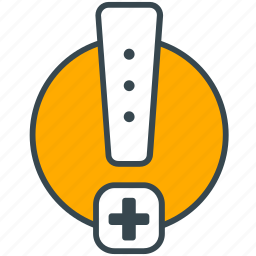 care, emergency, health, hospital, medical, warning icon