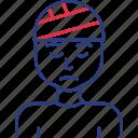 ill, patient, sick icon