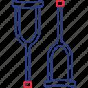 crutches, disabled, handicap