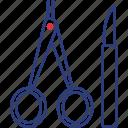instruments, scalpel, scissors icon