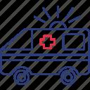 ambulance, car, transport