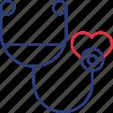 heart, hospital, stethoscope