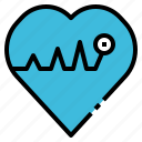 cardio, health, hearth, pulse, rate icon