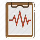 cardiogram, healthcare, medical, test icon