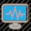 healthcare, medical, monitor, screen icon