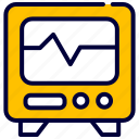 cardiogram, hospital, medical, monitor icon
