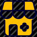 building, drug, hospital, medical, shop, store icon