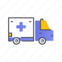 ambulance, transport, transportation, vehicle icon