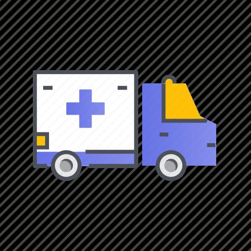 ambulance, transport, transportation, vehicle icon