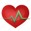 beat, bitmap, cardio, cardiogram, care, clinic, ekg, healthcare, healthy, heart, heartbeat, heath, hospital, love, medical, medicine, nurse, pulsation, pulse, rate, record, report, trace icon