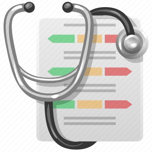 aid, chart, checklist, checkmark, clipboard, diagnosis, doctor, exam, health, healthcare, hospital, list, medical, medicine, nurse, prescroption, receipt, record, report, stethoscope, test icon