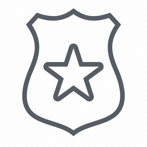 badge, law, officer, police, sheriff, shield icon