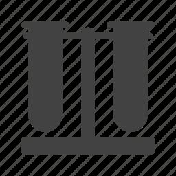 beaker, beakers, chemistry, laboratory, medical, science, set icon