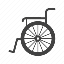chair, disability, disabled, object, physical, wheel, wheelchair icon