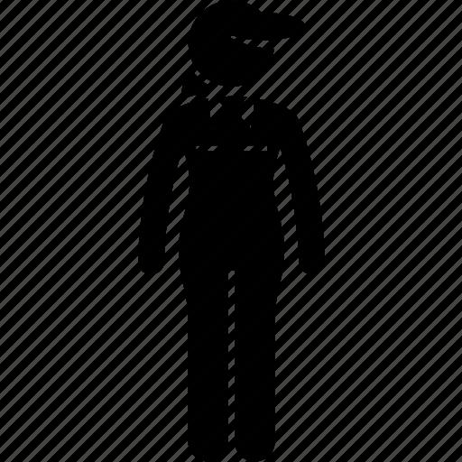 attire, female, job, outfit, uniform, woman, worker icon