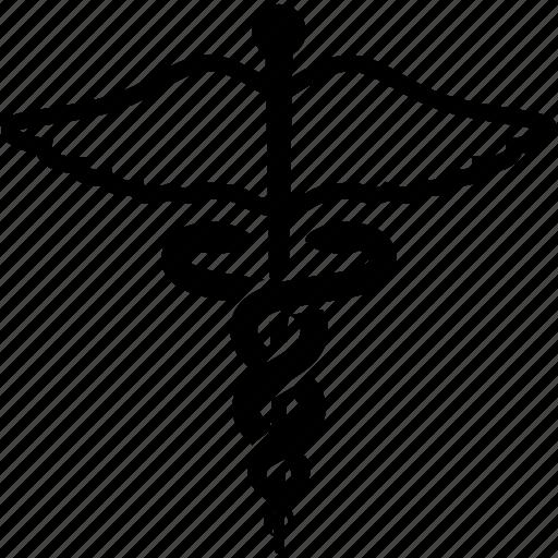 caduceus, hospital, medical, medicine, pharmacy, snake medical icon