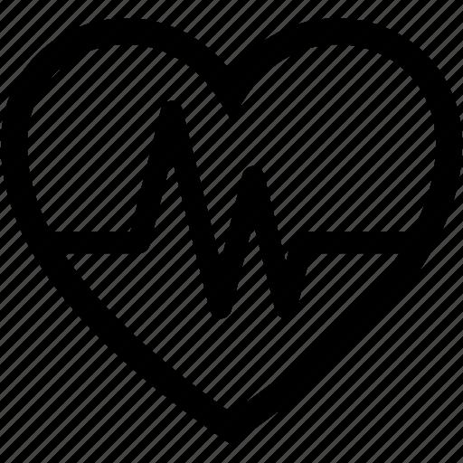 ecg, ecg lines, healthcare, heart, heartbeat icon