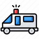 ambulance, ambulance car, emergency vehicle, health emergency, hospital emergency icon