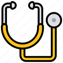 cardiac device, doctor instrument, healthcare, medical equipment, medical instrument, stethoscope icon