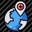 hospital location, hospital map, map location, navigation, pharmacy location icon