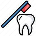 brushing teeth, cleaning tooth, dental care, oral hygiene, tooth brush icon