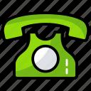 call, communication, landline, phone set, retro telephone, telephone icon
