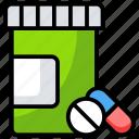 capsules, dose, medication, medicine, pills, tablet icon