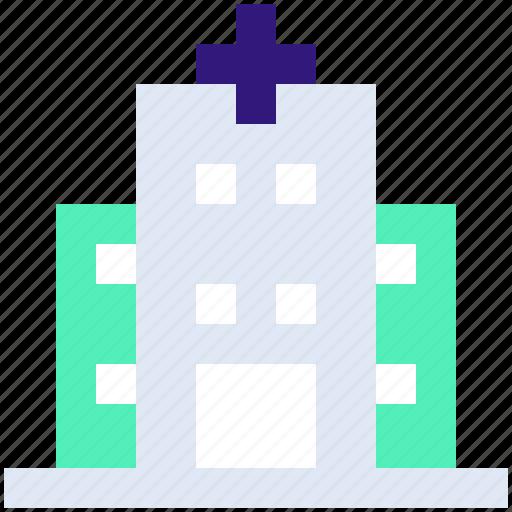 Building, clinic, health, healthcare, hospital, medical, medicine icon - Download on Iconfinder