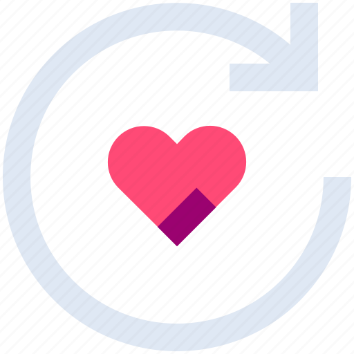 Arrow, heart, like, love, refresh, reload, sync icon - Download on Iconfinder