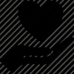 care, hand heart, healthcare, heart, like, love, valentine icon