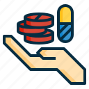 capsule, dispensing, drugs, medical, medicine, pharmacy, pills, tablet icon