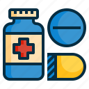 capsule, drugs, medical, medicine, pharmacy, pills, tablet icon